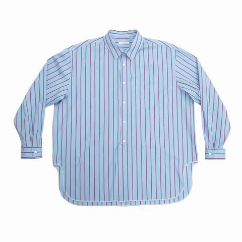 Langston Shirt - Blue with Red Stripes