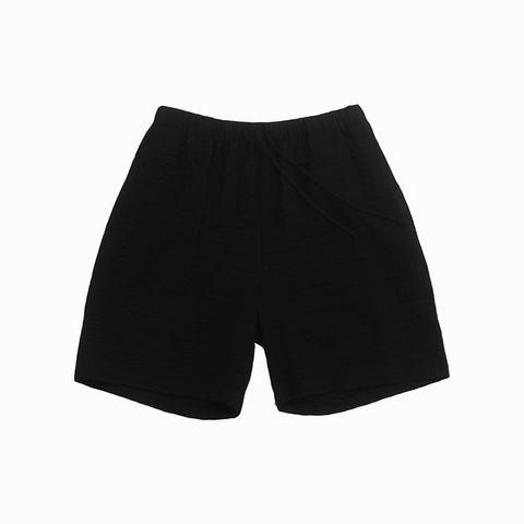 Lounge Short - Black Puckered