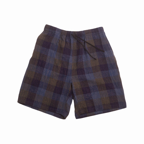 Lounge Short - Blue & Purple Plaid