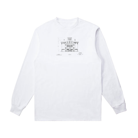 Long Sleeve Graphic T-Shirt - White (x RESIDENCE)