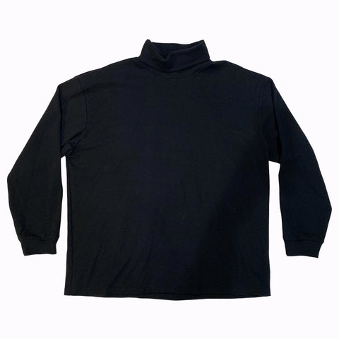 Ribbed Turtleneck T-Shirt - Black