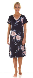 La Marquise Japanese Garden Soft Touch Short Sleeve Nightdress