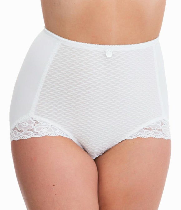 Ladies Crinkle Knickers Shape Wear Light Control Lace Slimming Briefs