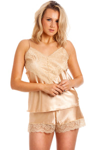 Satin Camisole Set with French Knickers by Lady Olga CTF60