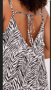 Famous Make Strappy Nightdress Zebra Print