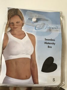 Carriwell Maternity Bra Black & White Small Pullover Head Non Wired