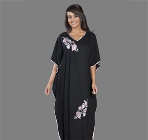 La Marquise Embroidered Jersey Kaftan 9985