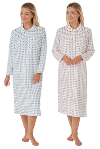 KATYA 100% BRUSHED COTTON WINCYETTE NIGHTDRESSES BY MARLON