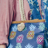 COLOURFUL PINEAPPLE ROPE BAG