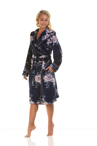 La Marquise Ladies Super soft Hooded Velour Robe Gown