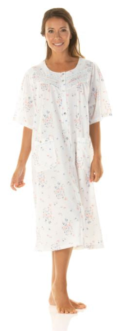 La Marquise Button Through Nightdress/Lightweight Gown