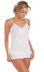 Cotton Vest Camisole by La Marquise 1036