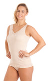 Cotton Built Up Cami Vest by La Marquise 1037