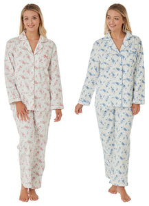 FLORAL 100% BRUSHED COTTON WINCYETTE PYJAMAS BY MARLON