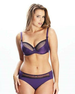 Curvy Kate Gia Balconette Bra Purple with Black Detail 28F