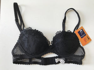 Passionata Black Lightly Padded underwired bra 32A