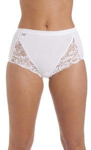 La Marquise Really Comfy Maxi Briefs like Sloggis with Lace 1006 3 Pack
