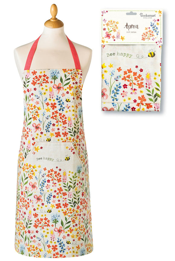 Stylish and Cheerful Cooks Apron by Cooksmart 100% Cotton