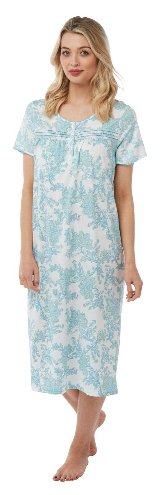 Ladies Marlon Short Sleeve Printed Nightdress
