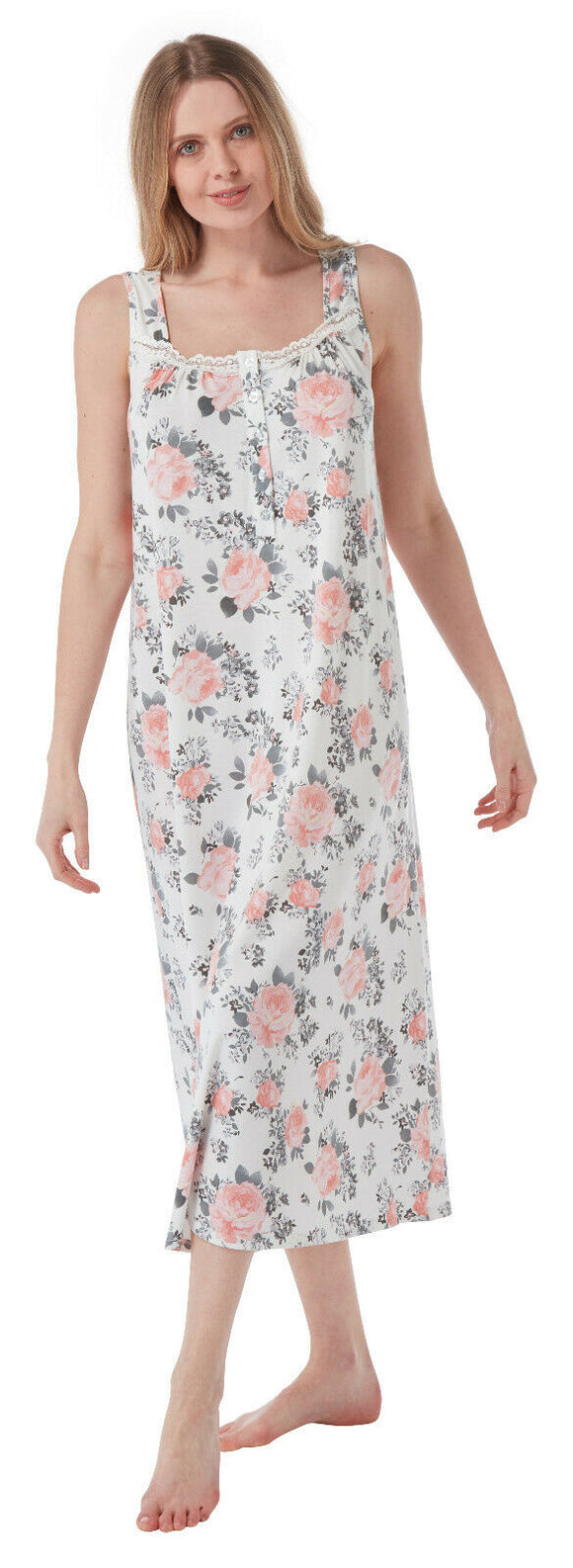Marlon Soft Stretch Jersey Nightdress sleeveless