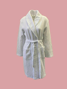 Store Group White Waffle Cotton Robe