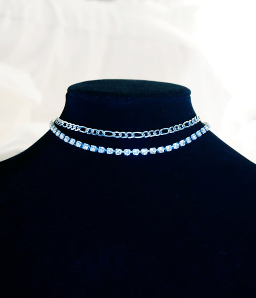 """CHOKE ON DIAMONDS"" SWAROVSKI CRYSTAL CHOKER"
