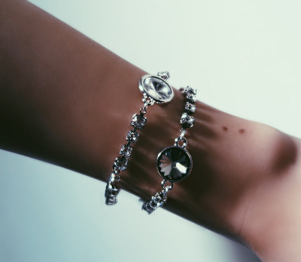 """Once Upon a Dream/Nightmare"" Swarovski Crystal & Chain Bracelet"