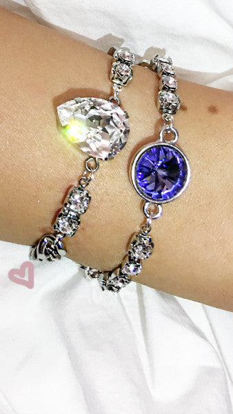"NEW! ""GLASS BALLOON"" Swarovski Crystal & Chain Bracelet"