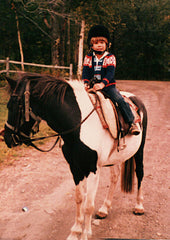 Star with a young rider early 80's