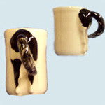 Horse's Butt Mug - Black & White Rear