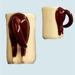 Horse's Butt Mug - Dark Brown Rear - EquineGiftBoutique