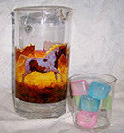 Pitcher with Southwestern Horses on the Run - EquineGiftBoutique