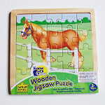 Draft Horse Hard Wood Puzzle small size