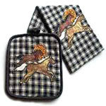 Appliqued Towel and Pot Holder. - EquineGiftBoutique