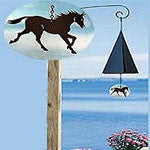 Island Pastures Bell with Horse Windcatcher - from North Country Wind Bells - EquineGiftBoutique
