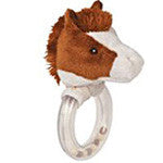 Brown Horse Rattle - EquineGiftBoutique