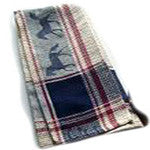Kitchen Towel with Burgundy Horses - EquineGiftBoutique