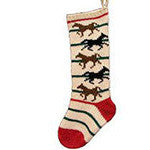 Hand Knit Wool Christmas Stocking - EquineGiftBoutique