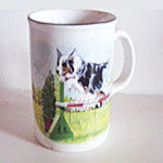 Border Collie Mug Jumping - EquineGiftBoutique