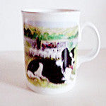 Border  Collie Mug Resting - EquineGiftBoutique