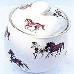 Cookie Jar Decorated with Paint Horses - EquineGiftBoutique