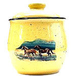 Cookie Jar with Horses galloping on the Prairie - EquineGiftBoutique