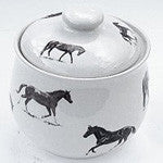 Cookie Jar with Thoroughbred Horses