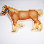 Draft Horse Hard Wood Puzzle Large Size