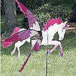 Fanciful Unicorn Wind Spinner