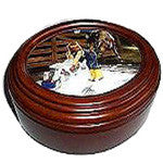 Faux Wood Musical Treasure Box - EquineGiftBoutique