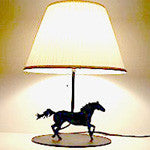 Lazer cut galloping horse lamp - choice of 2 sizes - EquineGiftBoutique
