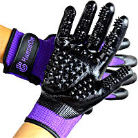 best grooming tool that you wear - good fitting grooming gloves let you get into all parts of your horse