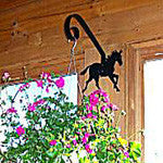 horse backed plant hanger - from North Country Wind Bells of Maine - EquineGiftBoutique