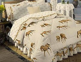 Horses on the Border Sheet set with Bed Skirt - EquineGiftBoutique